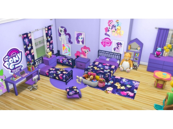 My Little Pony Bedroom Set - The Sims 4 Download