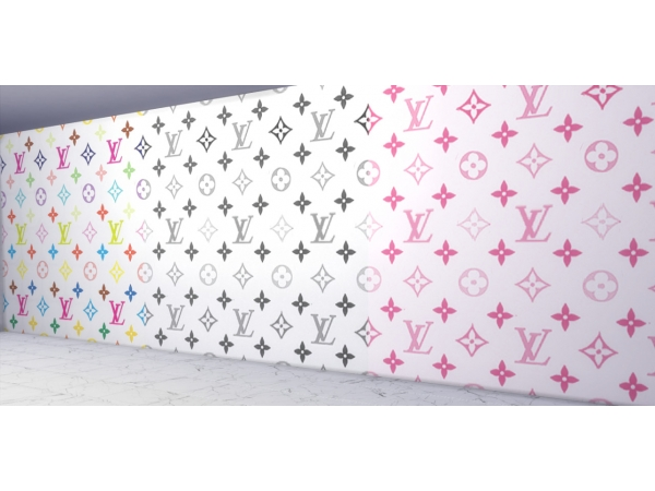 Lv Print Wallpaper By Platinumluxesims The Sims 4 Download Simsdomination
